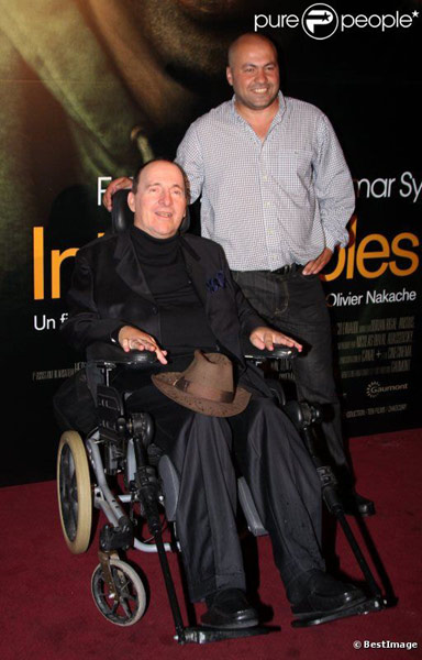 Philippe Pozzo di Borgo et Abdel Sellou lors de l'avant-première à